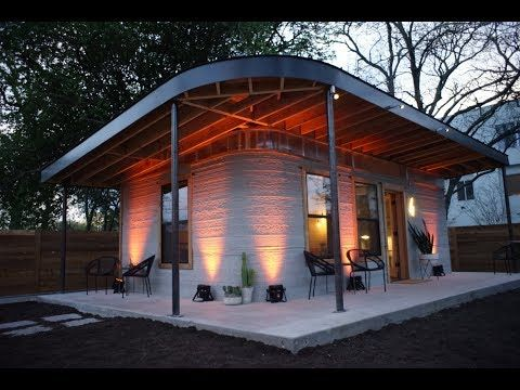 The Technology And Techniques Developed With The 350 Square Foot Tiny Home Which Cost 10 000 To Make Could Be R 3d Printed House House Cost Concrete House