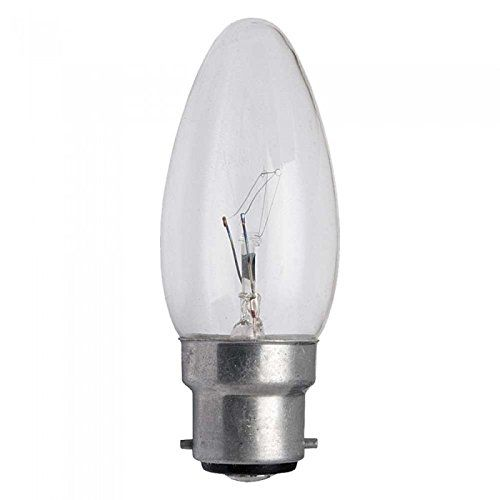 From 7 45 10 X Clear Candle Bayonet Cap Bc B22 Lamp Light Bulbs 40w 40 Watt Light Bulb Candle Clear Candles Candle Shapes