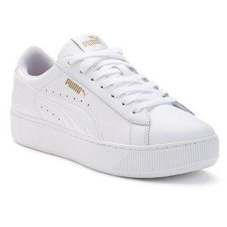 PUMA Vikky Platform Women's Leather Shoes   Sneaker, Kız