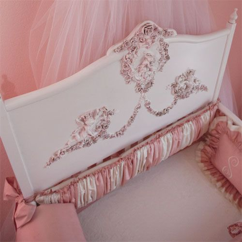 Posh Tots Mirabelle Convertible Crib. I would do anything to get this if I had a baby girl.