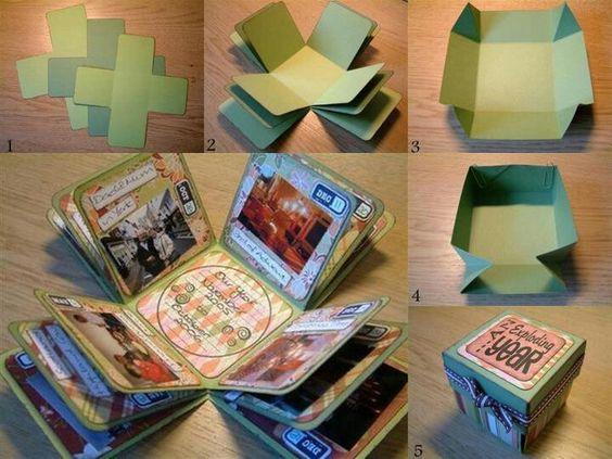 Caja sorpresa regalo esposito regalos pinterest - Como hacer un album de fotos ...