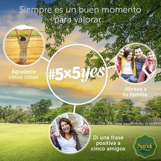 Hoy es un gran día para cambiar nuestros hábitos, elige una actividad e invita a 5 amigos a unirse. #5x5Yes