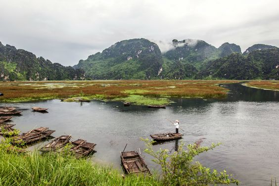 The Gorgeous Ninh Binh province of Vietnam. See more at http://www.exoticvoyages.com/vietnam-destinations?utm_source=Pin&utm_medium=organic&utm_campaign=SM