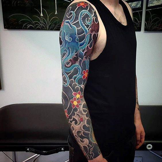 50 Japanese Octopus Tattoo Designs For Men Tentacle Ink Ideas Full Sleeve Tattoos Tattoo Sleeve Designs Black Sleeve Tattoo,Baja Designs Squadron