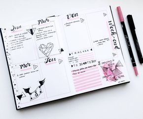 Weekly Spread by @french_dreamer_life_lover