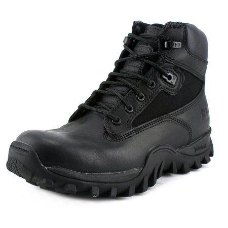 "Timberland McClellan 6"" Women W Round Toe Leather Black Work Boot"