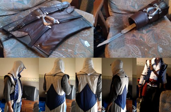 AC3 Connor Gear, Hood and Vambrace 2.0 by ~Trujin on deviantART