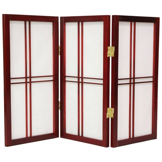 Oriental Furniture Desktop Double Cross 24 Inch Shoji Screen