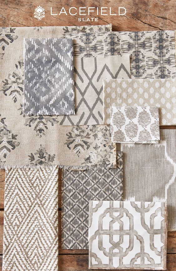 Neutral Mix Of Patterns Color Inspiration Pinter