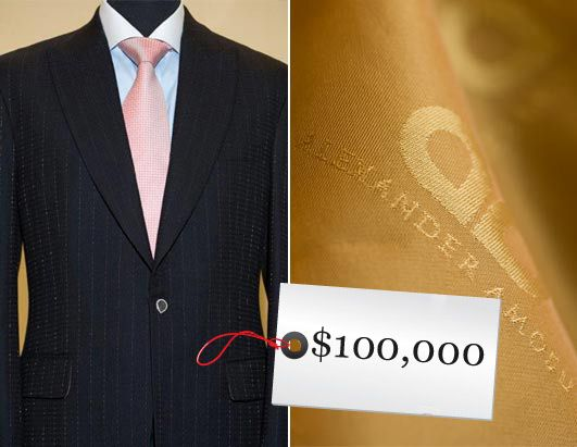 it's the most expensive suit in the world, an Alexander Amosu ...