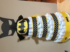 batman baby shower ideas batman diaper cake baby shower