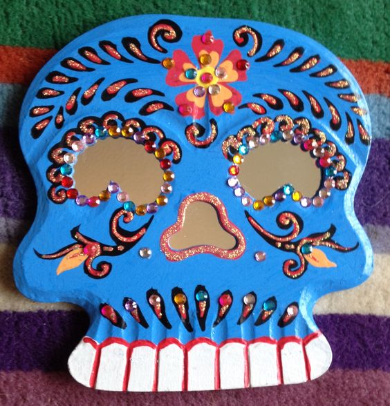 Día de Muertos - Sugar Skull Mirror