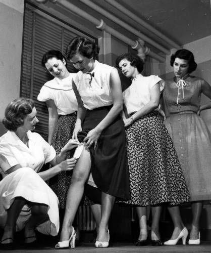 Testing nylon, circa 1940