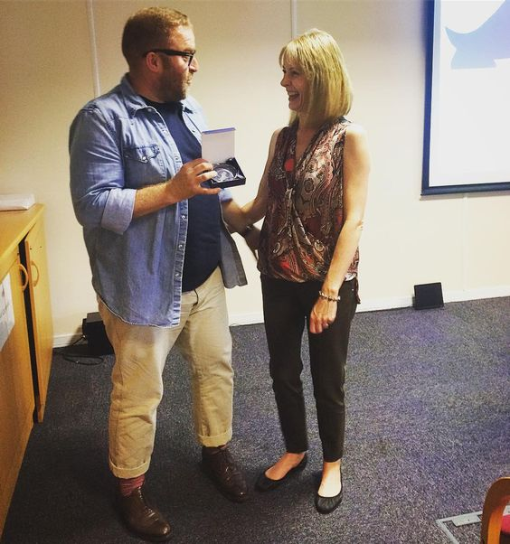 """So this happened earlier today. Sarah Whitehead the person I respect and admire the most in the Dog World presented me with her Extra Mile Award.  """"Most dedicated Trainer & Behaviourist who's gone the extra mile to help dogs and owners."""" #innercircle #cleverdogmethod #sarahwhitehead #proud #thankful  #awards #dogtraining #dogtraineronamission #myoffice #dogtrainerslife #guru #bestday"""