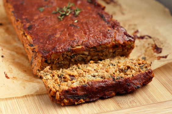 """Gluten-free + Vegan Lentil """"Meat"""" Loaf: There are a lot of great flavors happening with this lentil loaf, it is hearty and satisfying and almost even a little """"meaty"""". Read More"""
