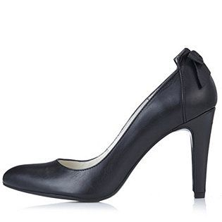 Marta Jonsson Leather Court Shoe with Bow Detail