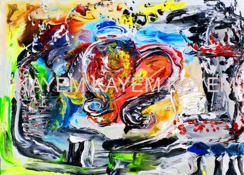 *Kayem Art Poster Burning Heart handsigniert