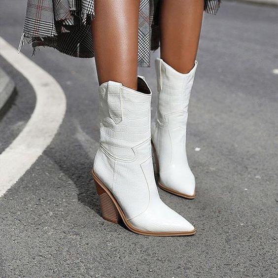 Witte Cowboylaarzen in 2020 | Cowboylaarzen, Cowgirl laarzen