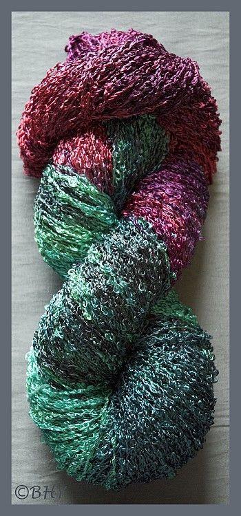 Antique Copper Rayon Loop Yarn