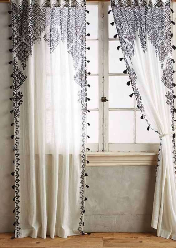 Beyond The Fringe Pompoms Tassels Colorado Homes Lifestyles Bohemian Curtains Tassel Curtains Curtains Living Room