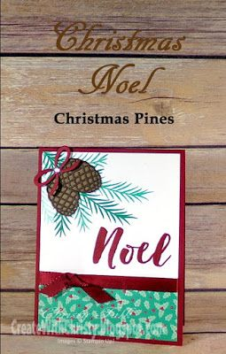 Complete instructions included in the blog post - Stampin' Up! Christmas Pines - Christmas Card - Create With Christy - Christy Fulk, SU! Independent Demo: