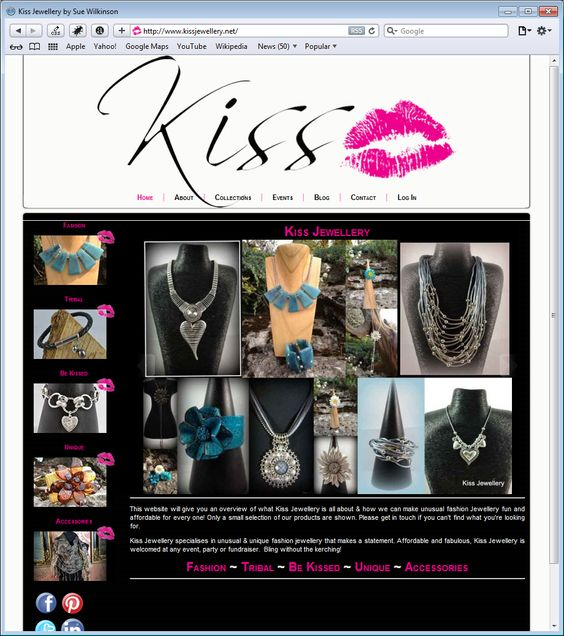 Kiss Jewellery - Wonderful statement pieces of jewellery sourced by the talented Sue Wilkinson
