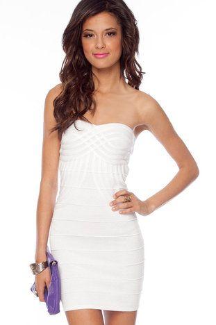 Infinity Bandage Dress in White