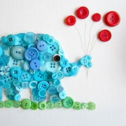 The site this is pinned from is full of awesome crafts!...Detailed instructions on how to make a sweet button animal. Easy and fun!