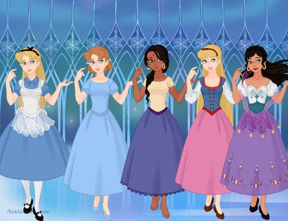 Unoffcial Disney Princesses Part 1 by TohruSempai