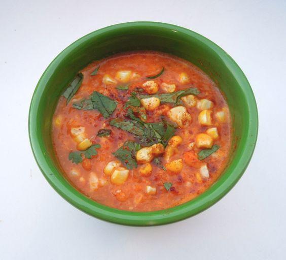 Roasted Tomato & Corn Soup