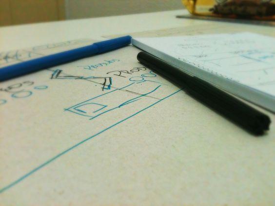 Tudo começa no papel =D