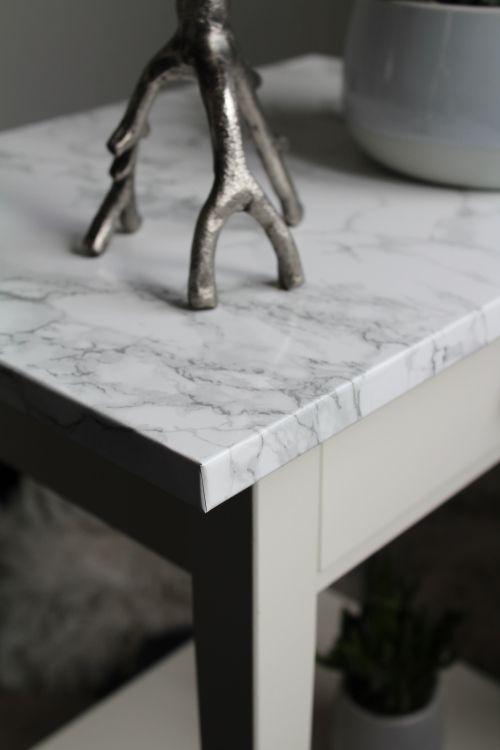 IKEA Hack: Tisch in Marmor Optik folieren   Marmor folie