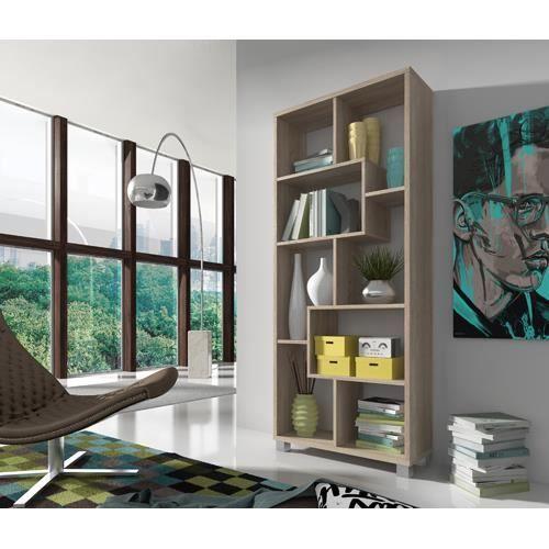Etagere Bibliotheque Design Salon Salle A Manger Chene Clair Dimensions 68 5 X 161 X 25 Cm De Profondeur Bibliotheque Design Design Salon Bibliotheque Blanche
