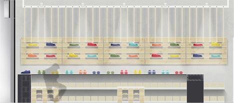 SoleRebels shoe shop interior by Dom Arquitectura and Asa Studio