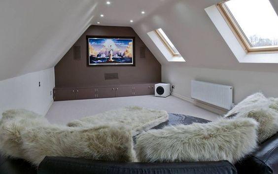 Cinema room - instead of TV downstairs!