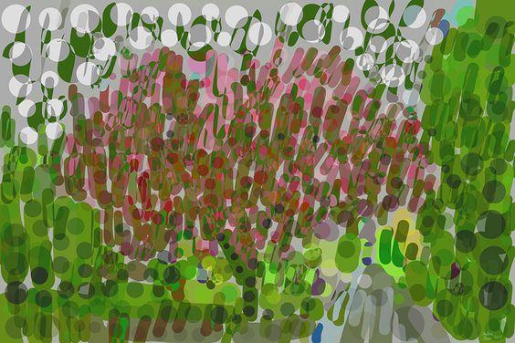 Andrea Mora title: A Tree in a Park No. 2 (2015) original size: 150 x 100 cm digital painting
