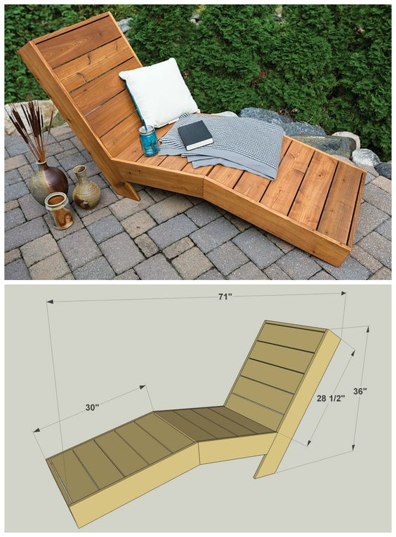 1000 ideas about diy outdoor furniture on pinterest for Build outdoor chaise lounge