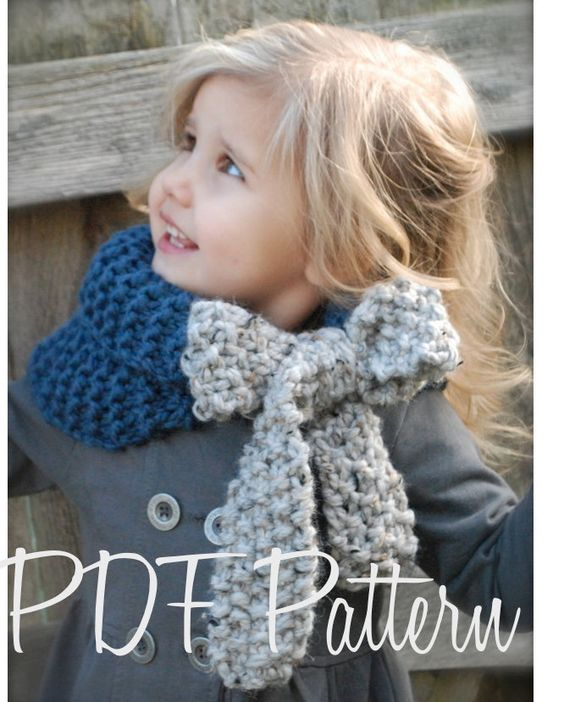 Knitting PATTERN-The Savannah Cowl (Child, Adult sizes) also can be Made to Order. $5.50, via Etsy.