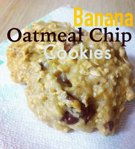 Pinning with Mrs. Pennington: HEALTHY Banana Oatmeal Chip Cookies. So delicious! Plain Greek yogurt is used as a substitute, but don't let that keep you from making the recipe because I HATE yogurt and these are delicious!