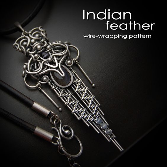 Learn this ethnic wire-woven pattern with easy to follow step-by-step tutorial. https://www.etsy.com/listing/41836079/indian-feather-earrings-step-by-step