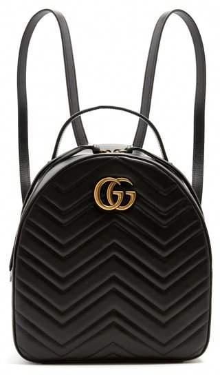 Gucci , Gg Marmont Quilted Leather Backpack , Womens , Black