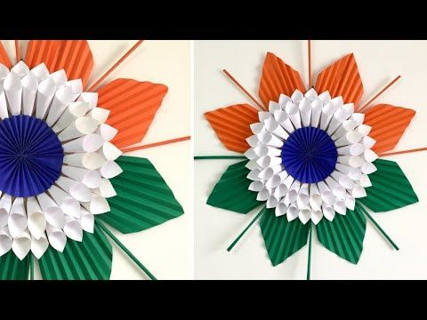 Happy Independence Day Craft Wall Hanging For Independence Day Youtube Independence Day Decoration Crafts Paper Flowers Craft
