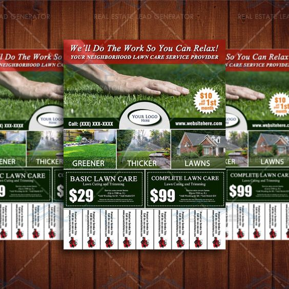 Lawn care business business flyer and flyer design on for Garden maintenance flyers