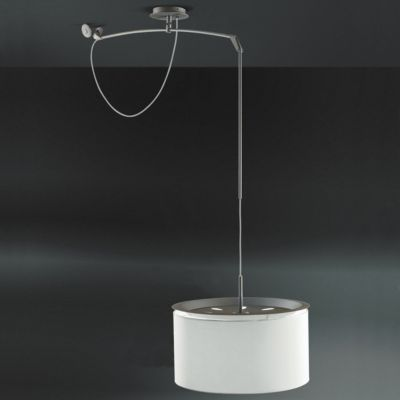 Finger Mobile Drum Pendant by Carpyen - perfect for situations where the centre of your table does not line up with with the light socket.