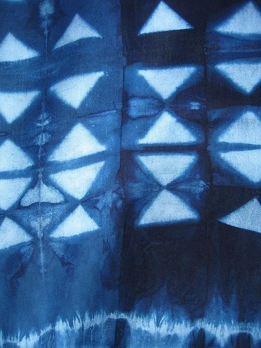 Itajime shibori | by SOFennell, via flickr