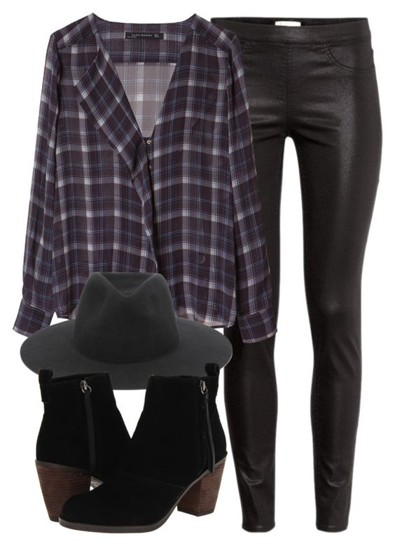 """""""Untitled #4461"""" by laurenmboot ❤ liked on Polyvore featuring H&M, Zara, rag & bone and Dolce Vita"""