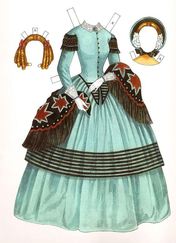 Godey's Early Victorian Fashions - Ann (1838 - 1858)   Gabi's Paper Dolls