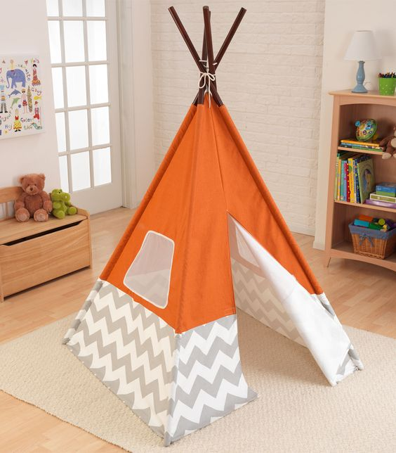 The Teepee for Kids is made from canvas mesh and bamboo - assembly made easy with included instructions - features tie close flap and mesh windows