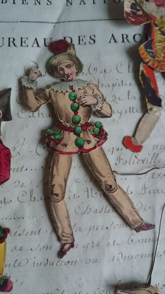 "Childs Paper Puppet by ""Mairie"" of Paris""(mid to late 1800s)~Image via Simply Chateau."