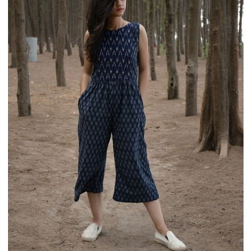 Dark Blue Ikat Jumpsuit Jumpsuit Fashion Designer Jumpsuits Kids Designer Dresses